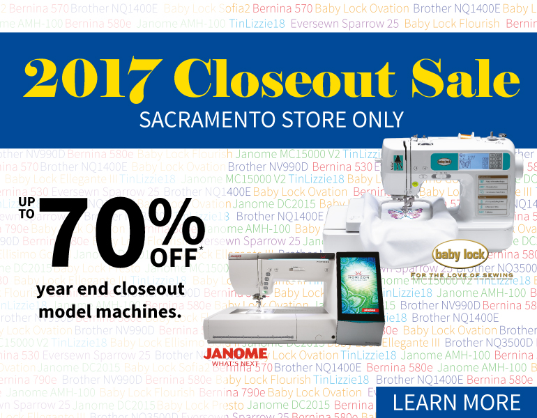 Machine Closeout Sale