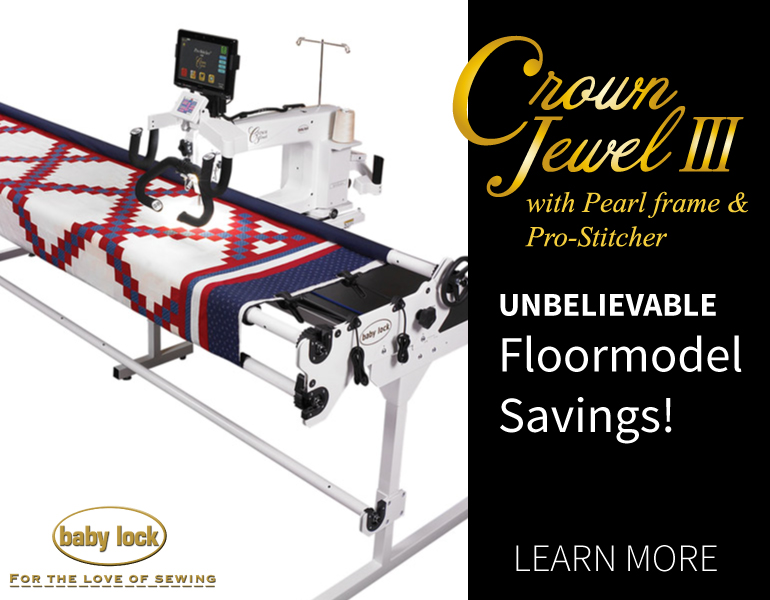 Baby Lock Crown Jewel III closeout pricing