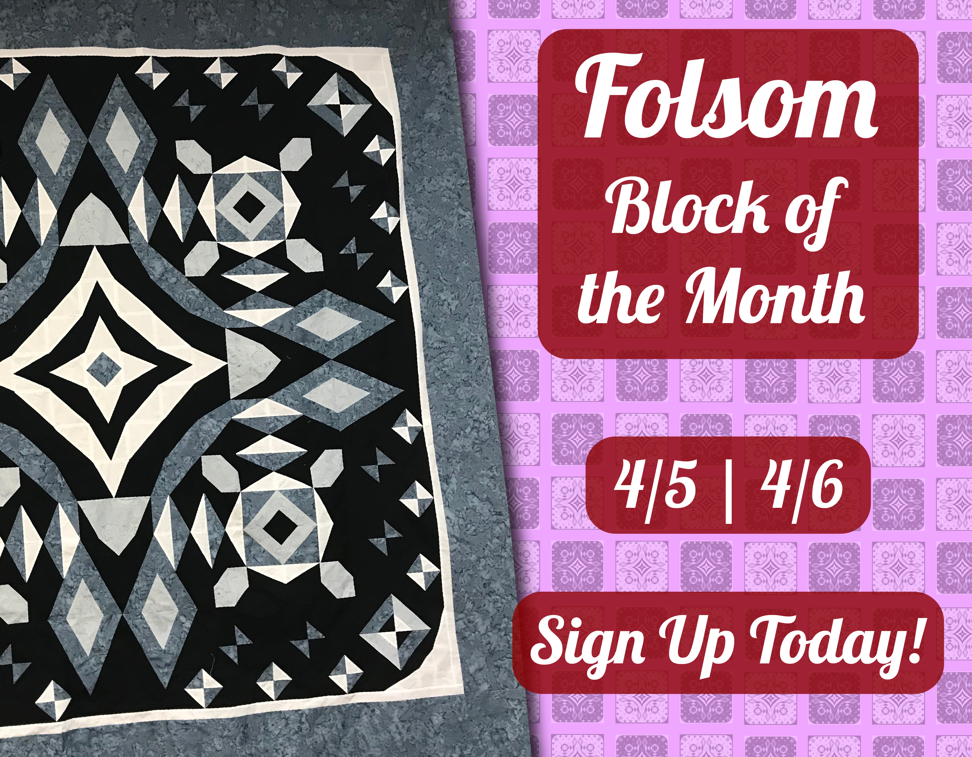 Folsom Block of the Month