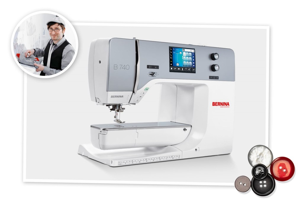 The BERNINA 740 makes sewing dreams come true!